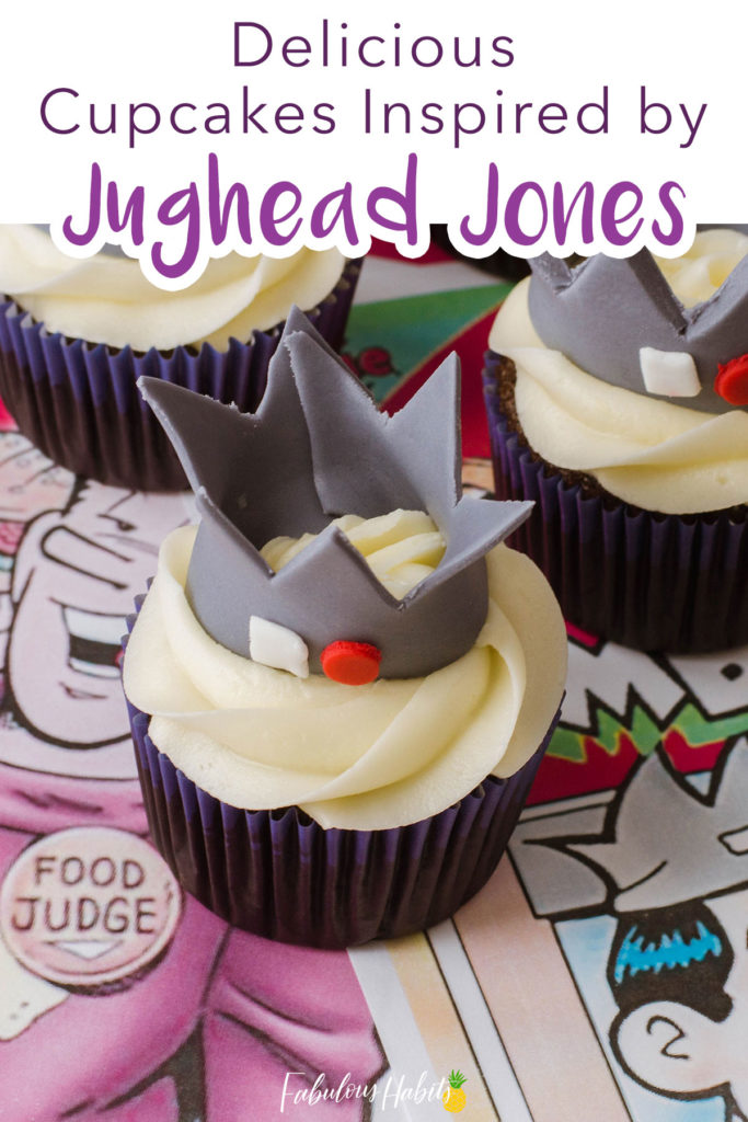 Here are our step-by-step instructions to make the cutest Jughead Cupcakes. One thing's for sure: these sweet treats will impress any Riverdale fan! #riverdale