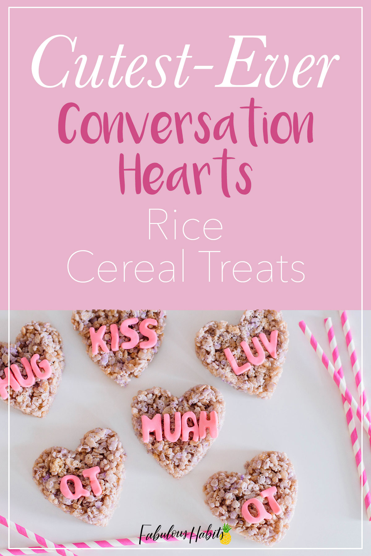 These Conversation Hearts Rice Cereal Treats are just perfect for your upcoming Valentine's Day celebrations! Give them a try! #valentinedesserts