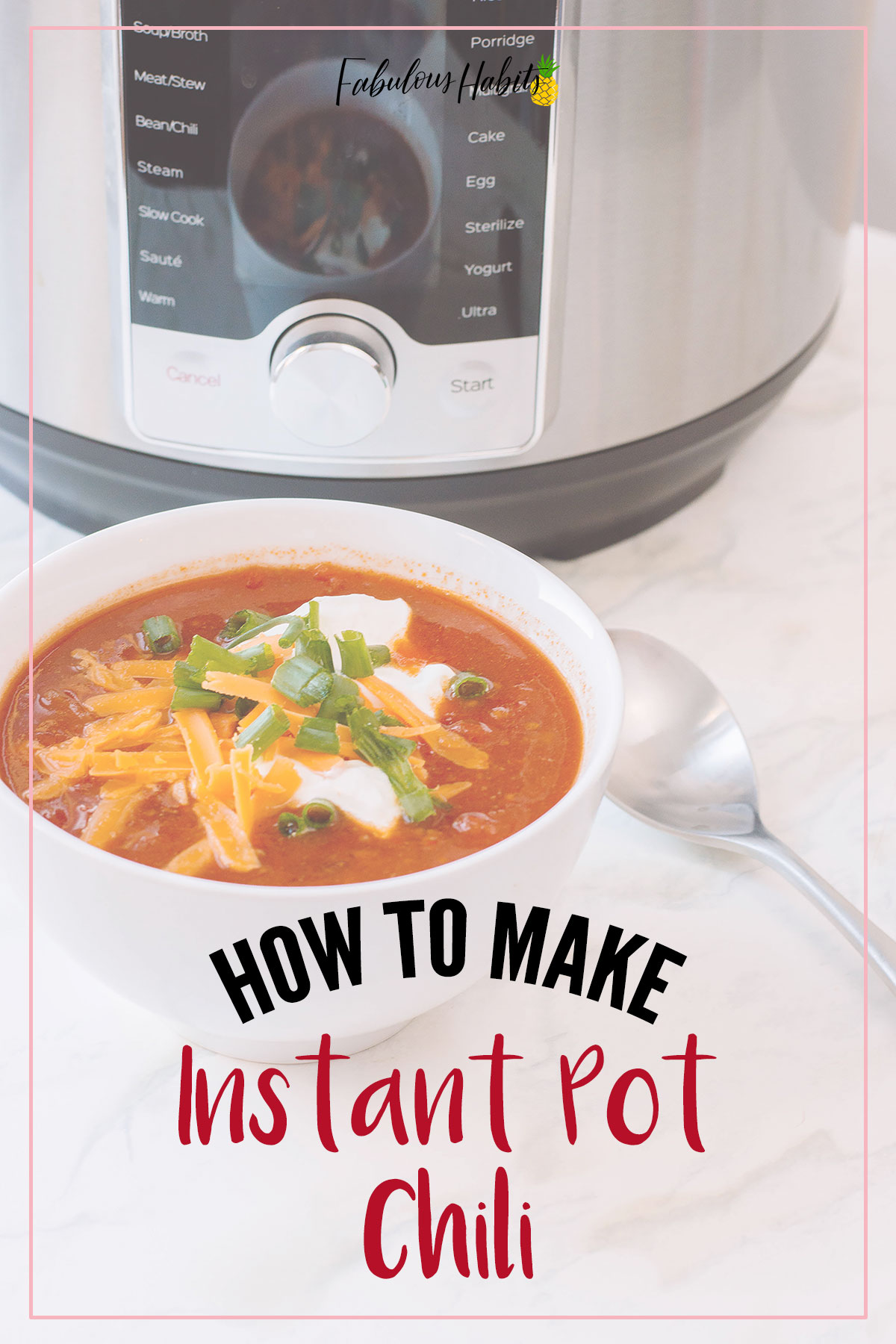 Here is our surefire recipe for Instant Pot Chili. You can make it all in the Instant Pot! Easy preparation and easy clean-up - double win! #instantpotrecipes