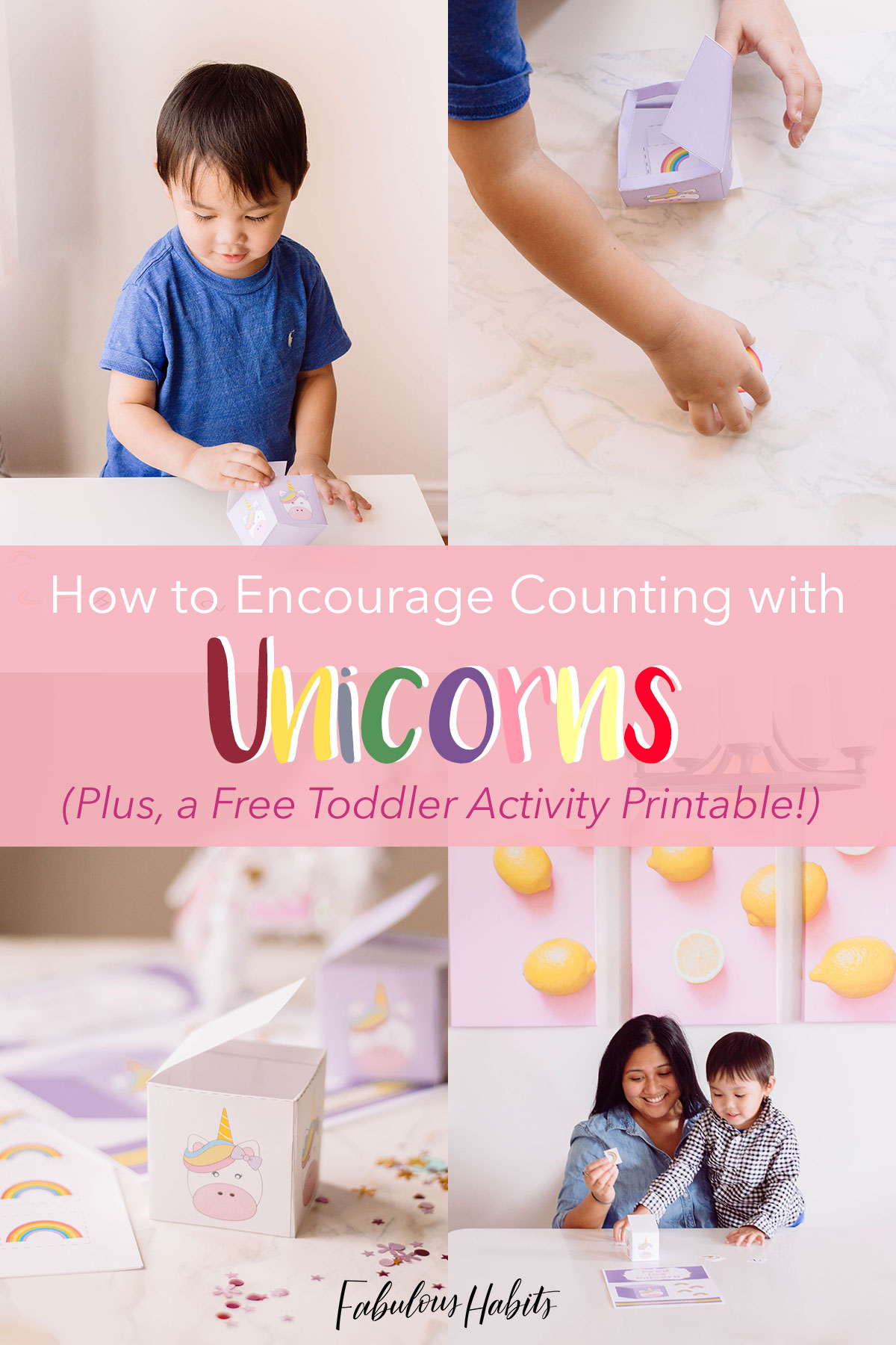 Prevent toddler boredom with this ultra cute toddler activity: a unicorn printable!