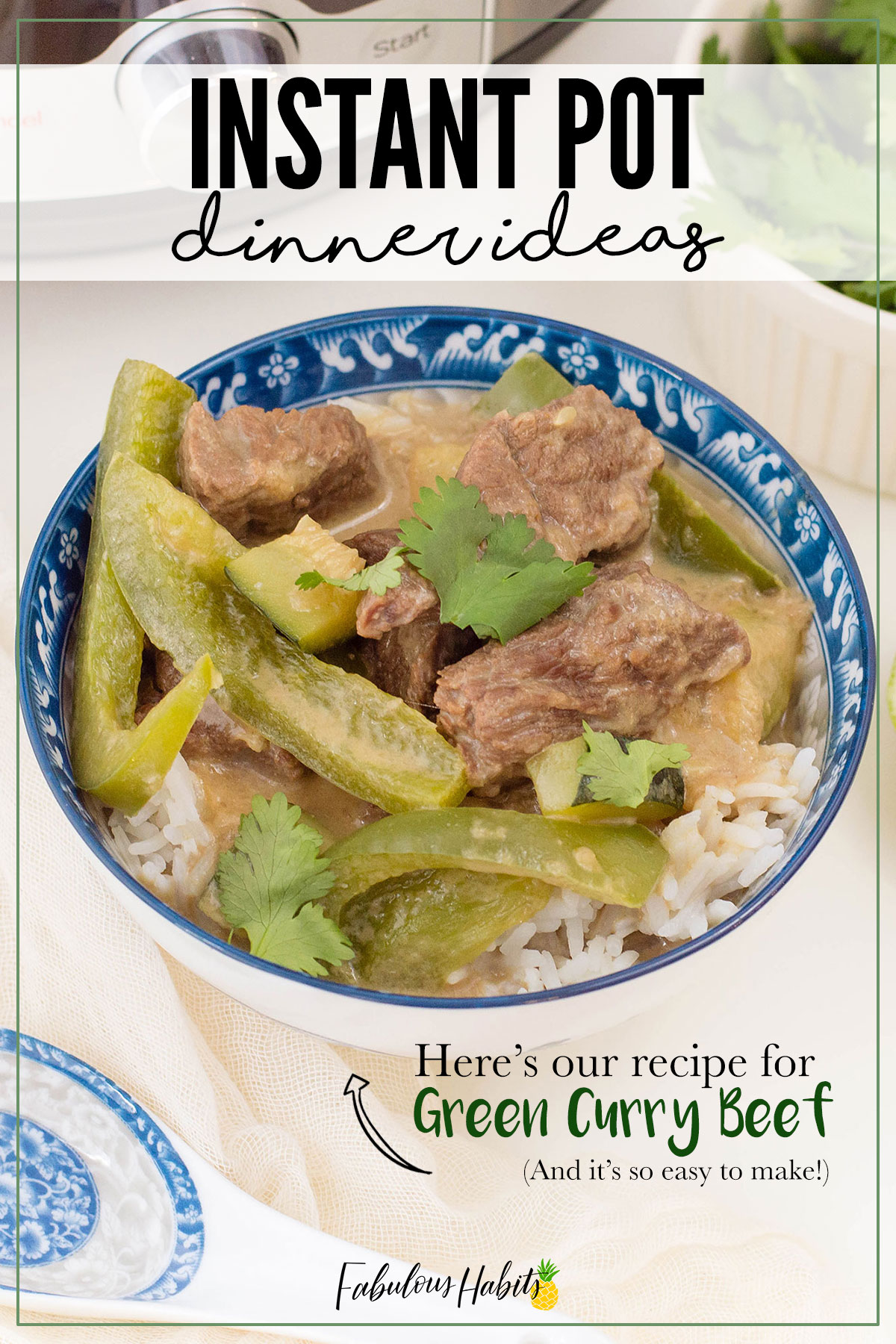 Looking for a new meal for your fam to try out? Our Instant Pot Green Curry Beef recipe is delicious and so easy to put together! #instantpotrecipes