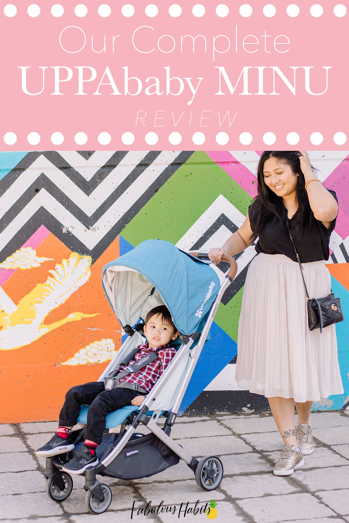 Mr. Toddler and I strolling along in the UPPAbaby MINU - here's our full UPPAbaby MINU Review so that you can make the best stroller decision for you and your fam.
