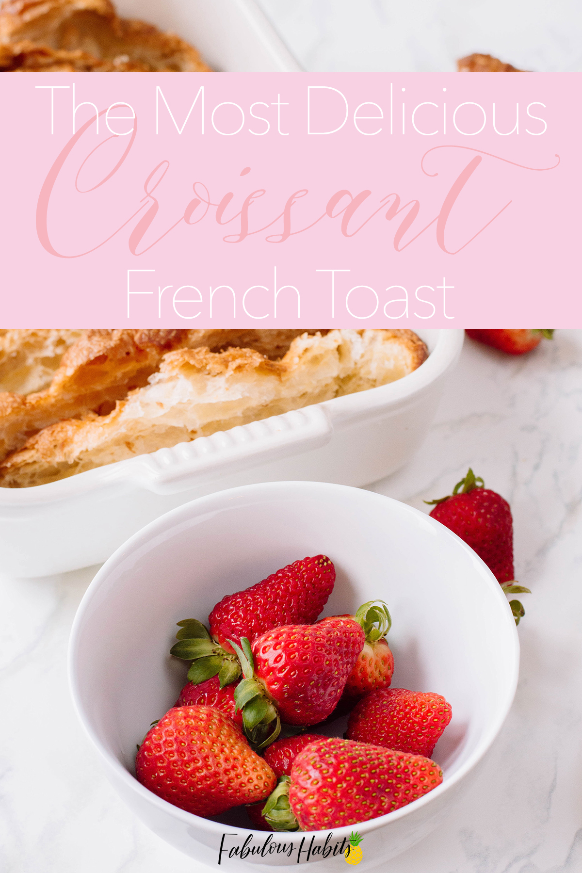 Croissant French toast is easy-peasy to make. Whether for Sunday brunch or Mother's Day, this sweet meal is perfect for any occasion!