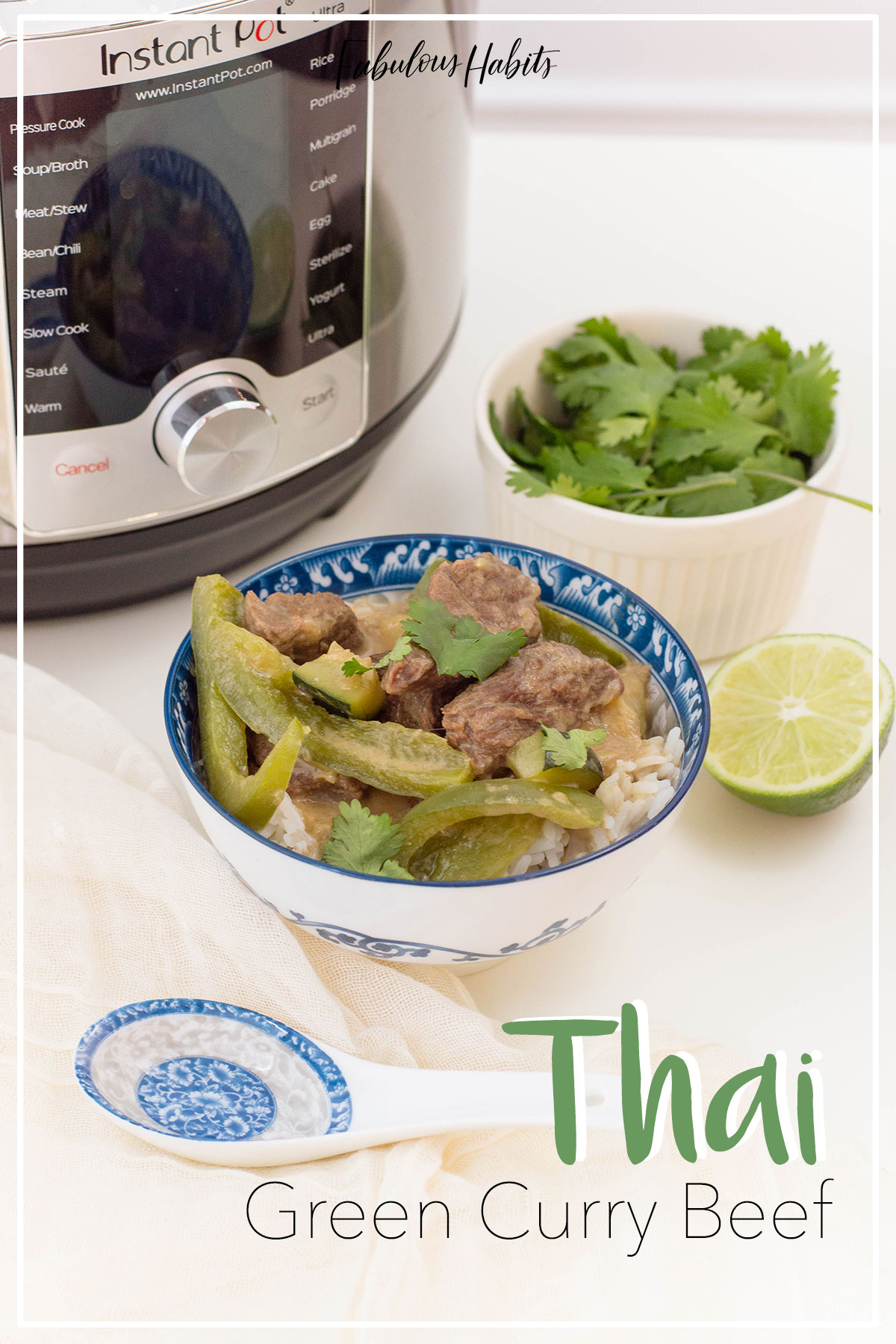 Craving curry? Our recipe for Thai Green Curry Beef is made in the Instant Pot so it's easy and oh-so delicious!