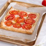 This tomato tart recipe is easy to make and even easier to eat - because it's so delicious! We've got the full recipe! #tomatotart