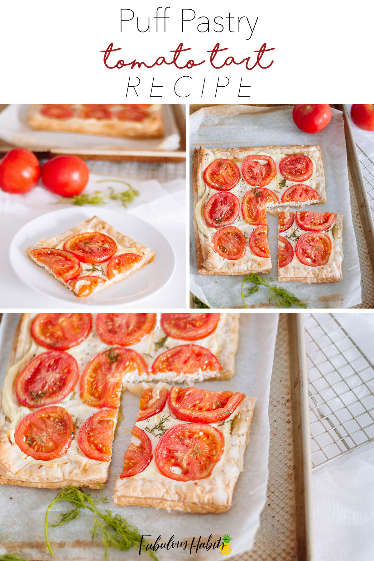 The easiest recipe for tomato tart that you'll ever come across. Here's how to make it! #tomatotart
