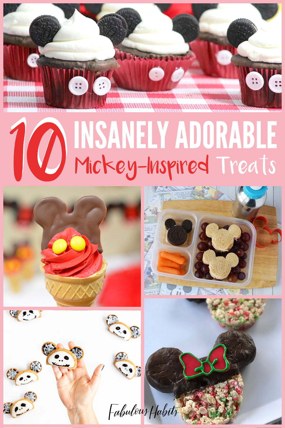 After our magical trip to WDW, we're feeling Disney-withdrawl so we decided to round-up 10 of the cutest Mickey-Inspired treats we could find! #disneyinspiredrecipes