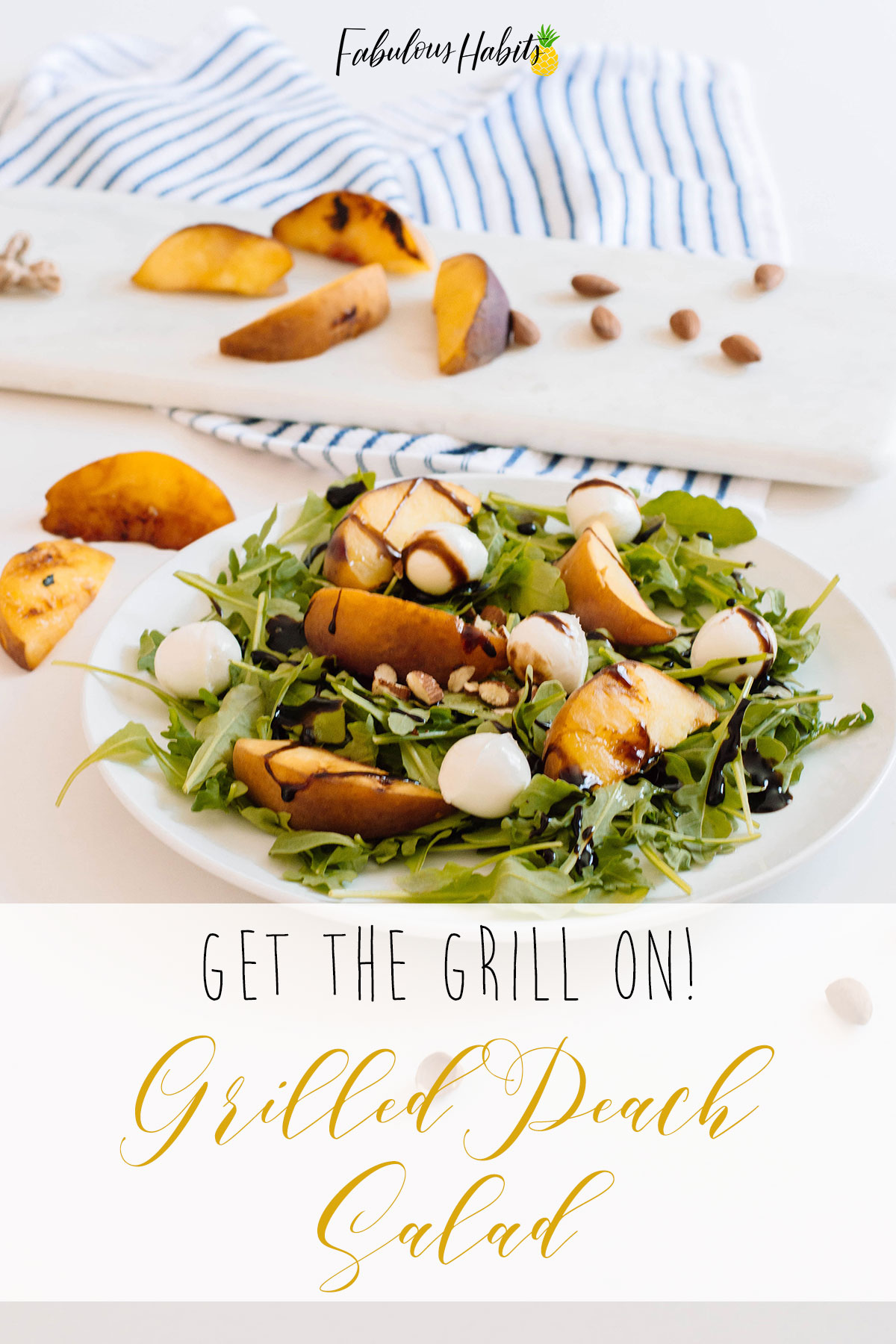 Turn on the grill! It's time to make this delicious Grilled Peach Salad! #summersalad