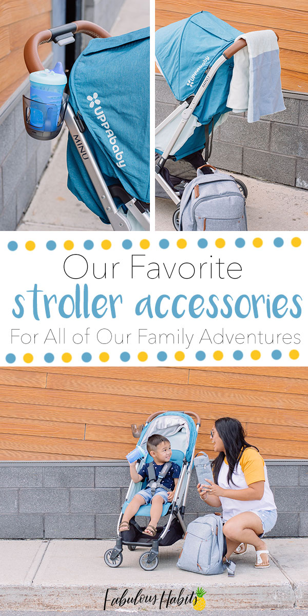 Heading for an adventure with your toddler? Be sure you're equipped with these must-have stroller accessories! #toddleradventures #strolleraccessories