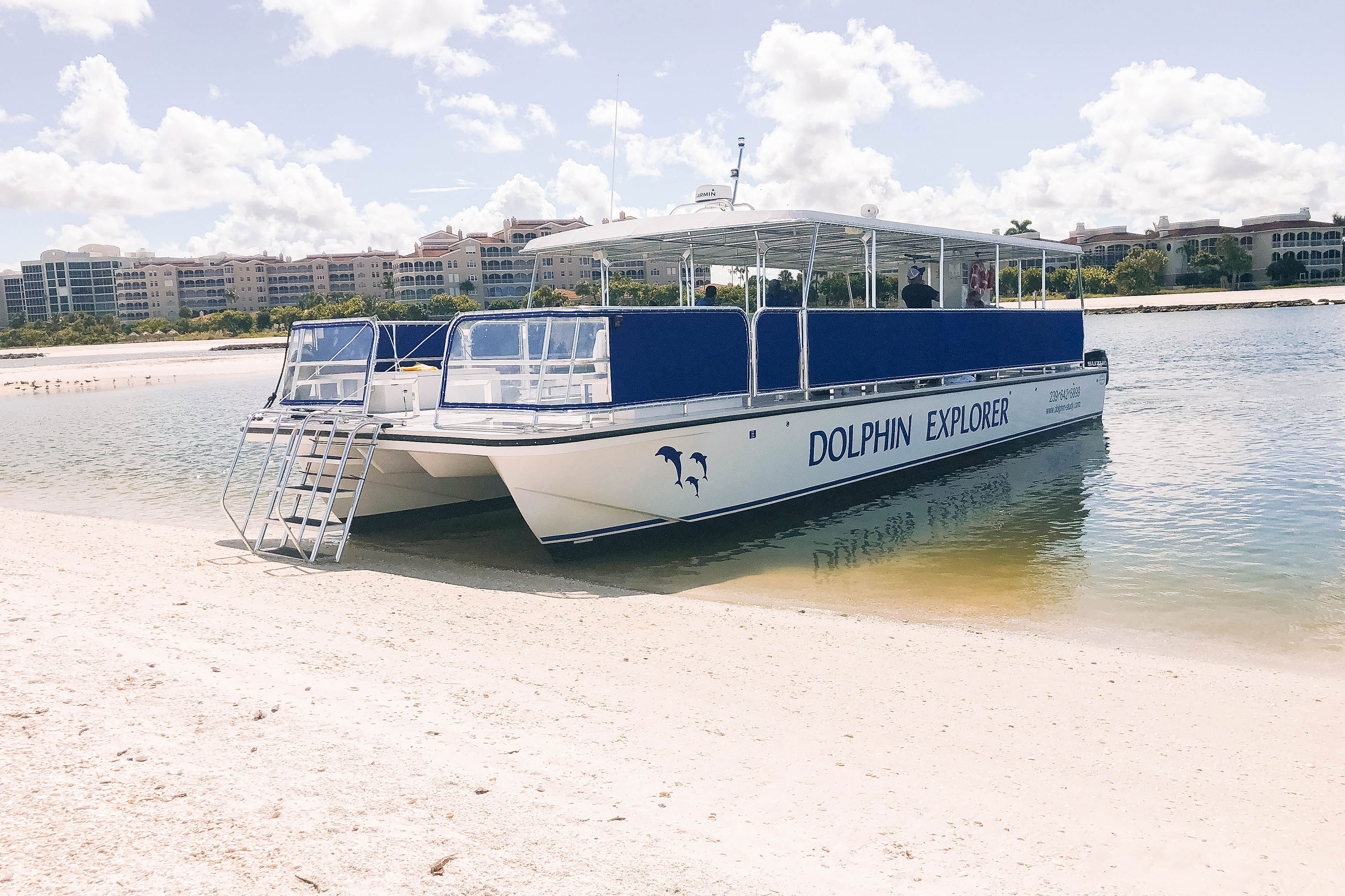 Boarding the Dolphin Explorer for a hands-on adventure to cruise the Gulf of Mexico and spot some bottlenose dolphins! #marcoisland #naplesflorida
