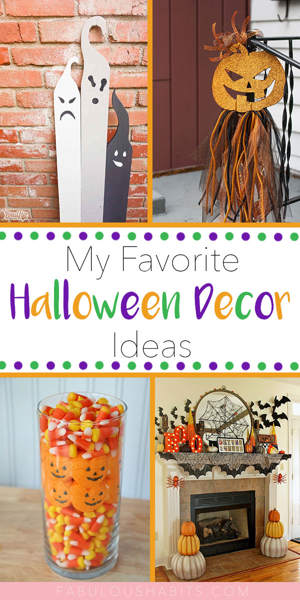 Putting together a list of Halloween decoration ideas - just a little inspiration to spruce up your home for the spookiest time of the year!