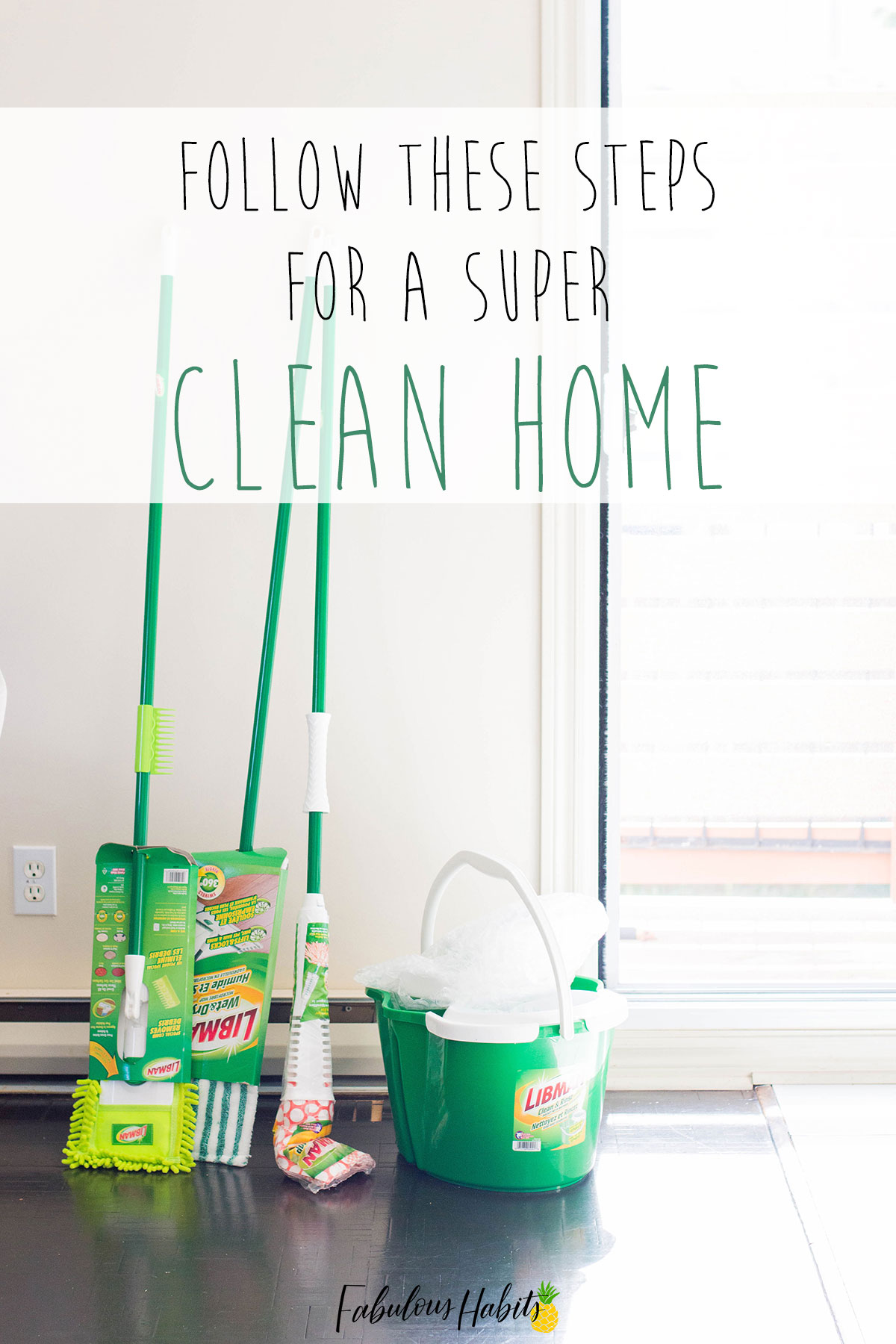 Follow all of these steps for an easy house cleaning schedule to make sure your home is always sparkling! #cleanhome