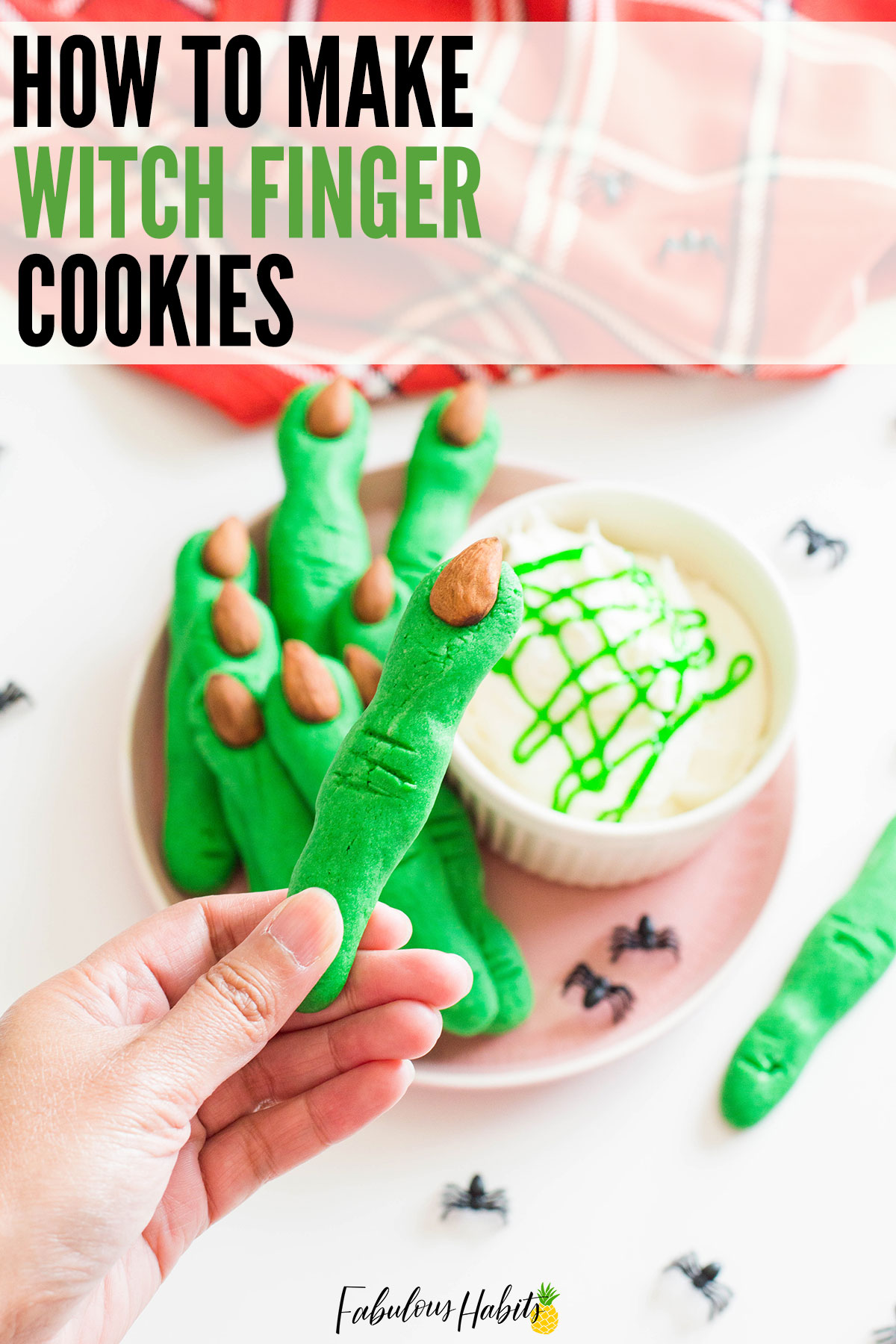 Witch Finger Cookies that are easy to make, creepy to look at, but so delicious to munch on. Happy Halloween! #HalloweenDesserts