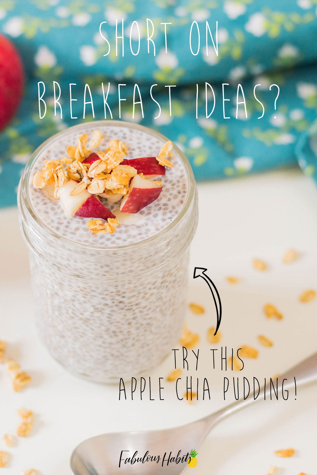 Need an easy breakfast solution? This Apple Cinnamon Chia Pudding is so easy to whip up! #chiapudding