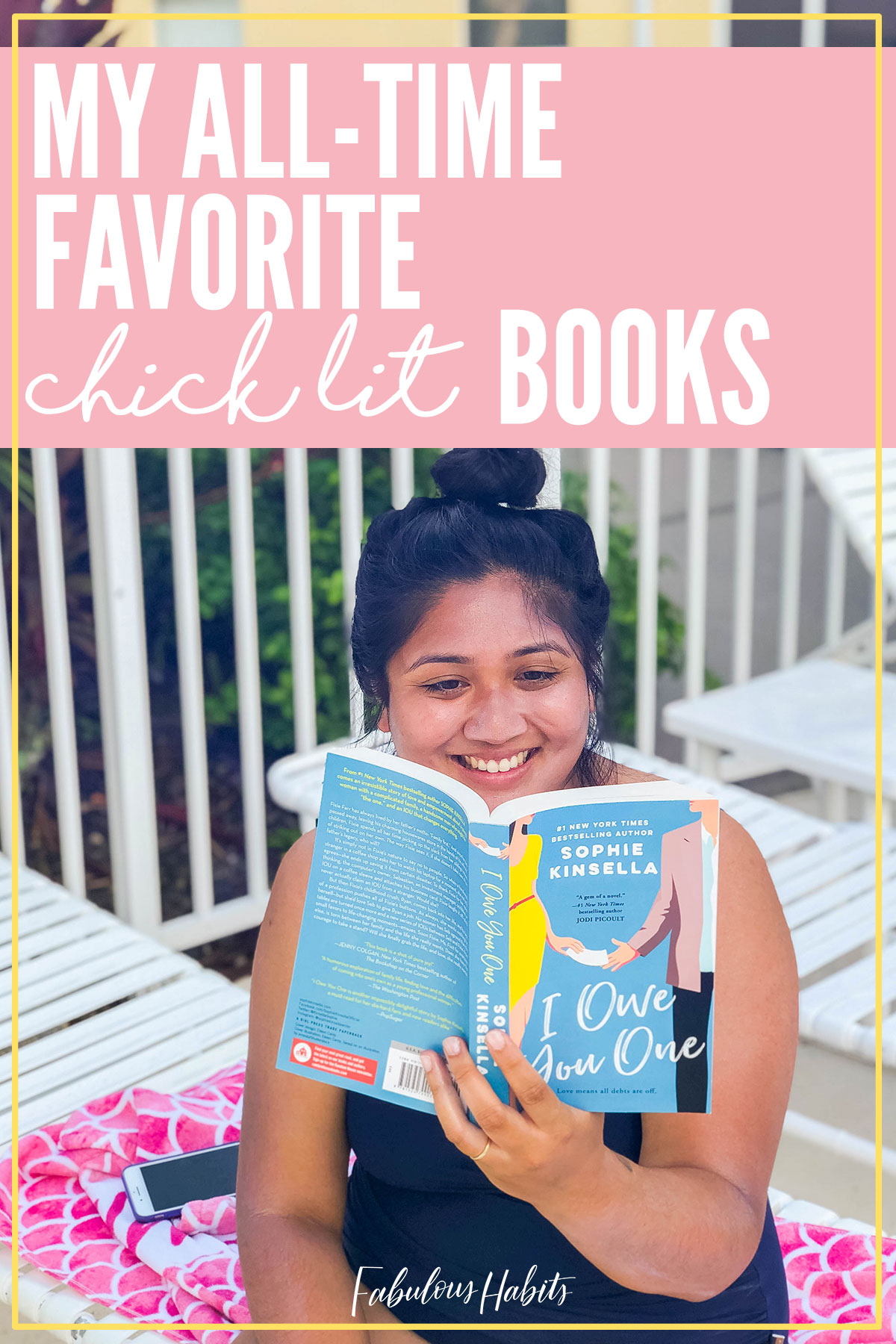 Today, I'm presenting some of my favorite lighthearted yet, inspiring books. Here's my list of the best chick lit books out there. #readinglist #fabuloushabits