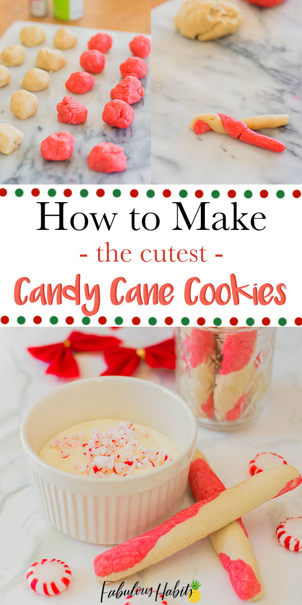 How to make the cutest candy cane cookies - an easy recipe that's perfect for the holiday season! #Christmascookies