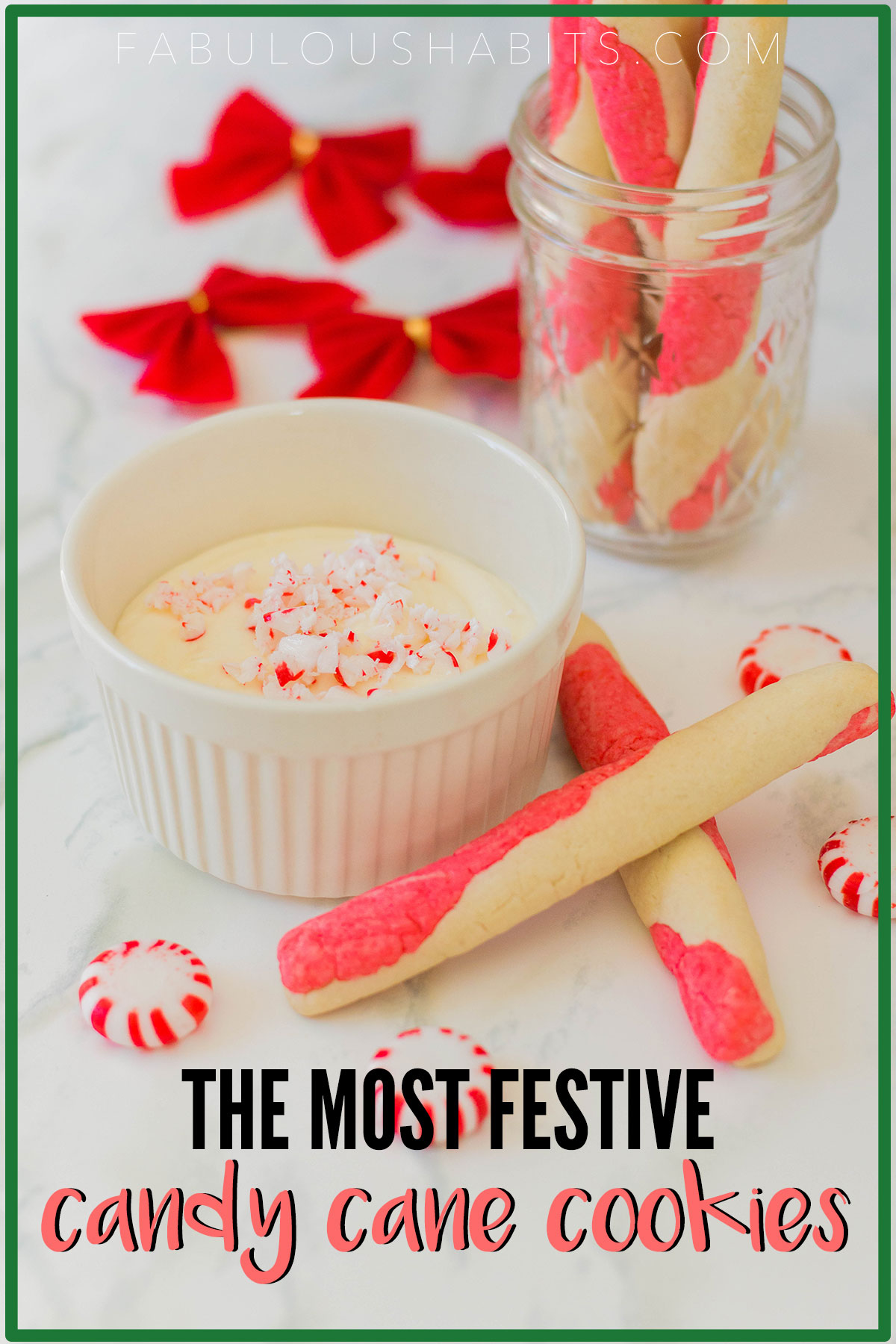 Looking to fill your sugar cookie tin this holiday season? Try out this recipe for Candy Cane Cookies - so delicious and so adorable! #Christmascookies
