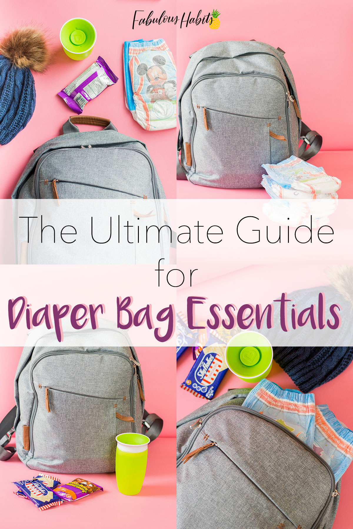 Got your diaper bag list ready? Don't worry, we got it for ya! Here is the ultimate guide for diaper bag essentials! #diaperbagessentials