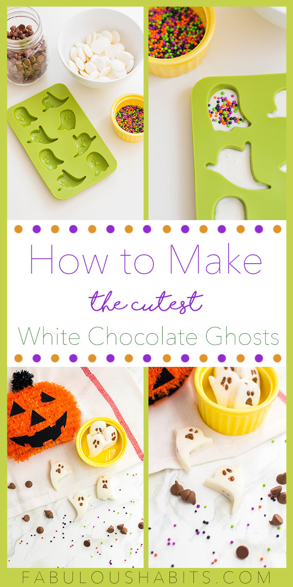 Wanna make these super cute white chocolate ghosts for Halloween? Look no further because, boy, do we have the easiest recipe for you! #halloweenbaking