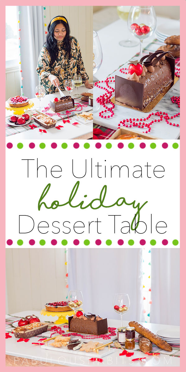 Here's how to put together the ultimate Christmas dessert table. Simple tips for the ultimate sweet tablescape! #christmasparty