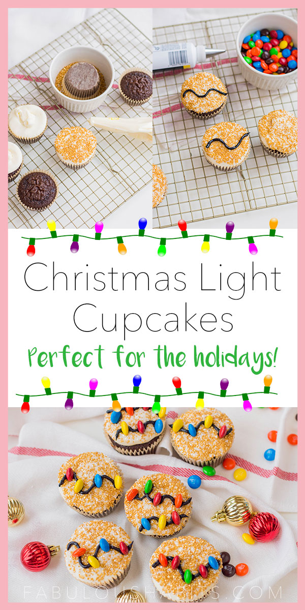 Celebrate the holiday season with these Christmas Light Cupcakes - the perfect dessert for all of your holiday baking endeavors! #holidaybaking #christmascupcakes