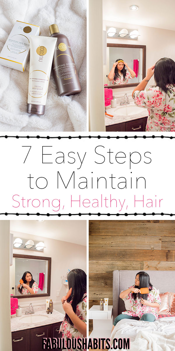 7 easy steps to maintain strong and long hair. These tips are simple to follow and will help you achieve very healthy hair. #healthyhairtips