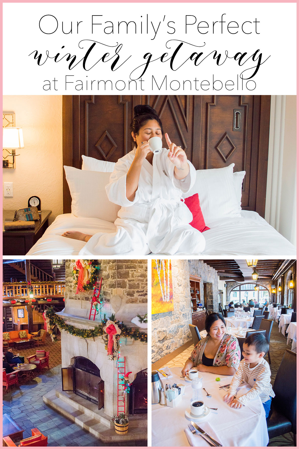 This is how our family spent the perfect 4 days at Fairmont Montebello - our #1 destination for our annual winter family vacation. #wintervacation #travelquebec