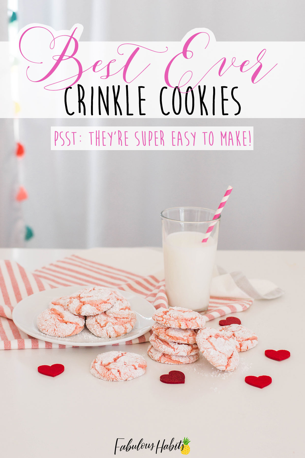 Here's my super easy recipe for crinkle cookies. All you need are cake mix, food coloring and a few other ingredients to whip-up these delicious treats. #cookierecipe