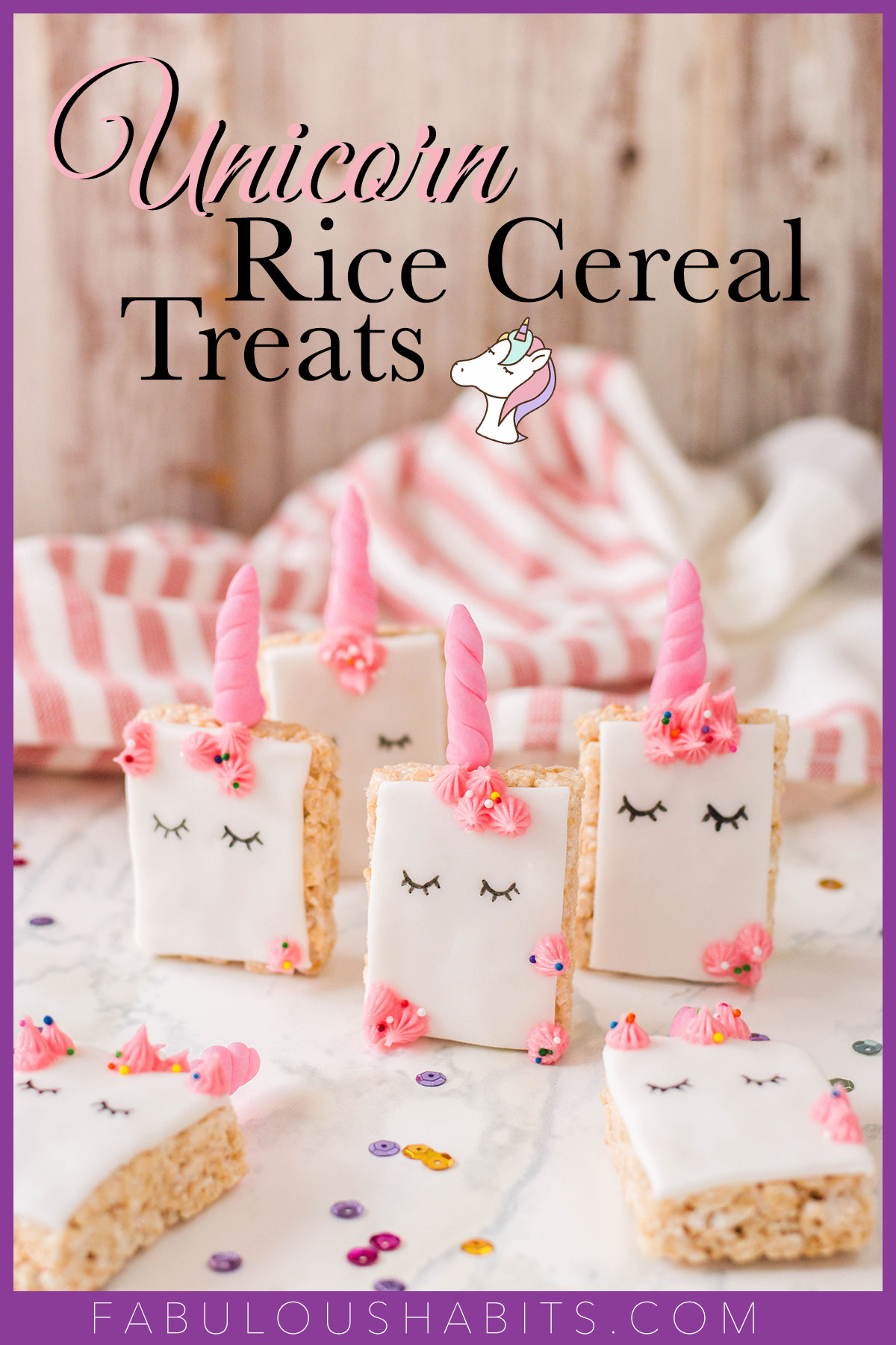 Planning a unicorn bash?! Impress your guests with these ultra cute Unicorn Rice Krispie Treats! #unicorndessert