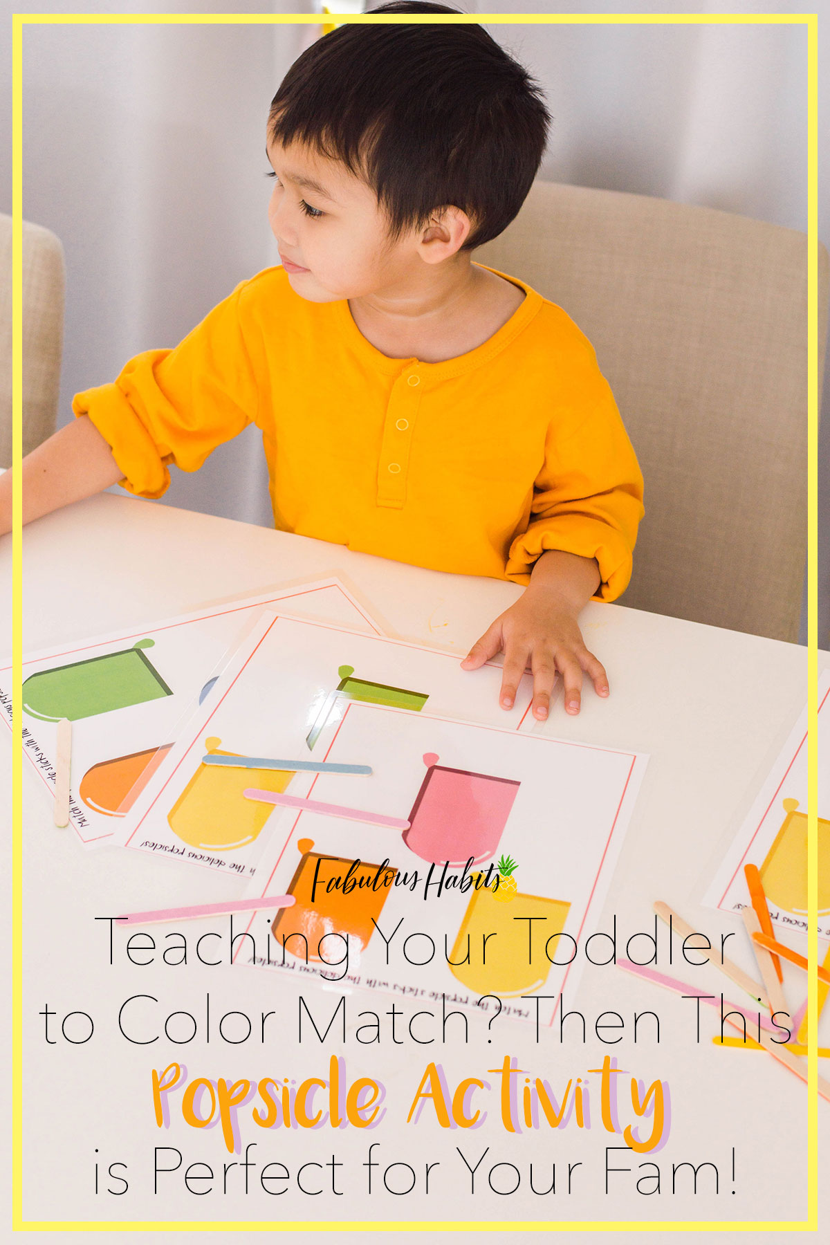 If you're in the middle of teaching your little one on color recognition, then this popsicle activity is a must-try! Enjoy! #toddleractivities