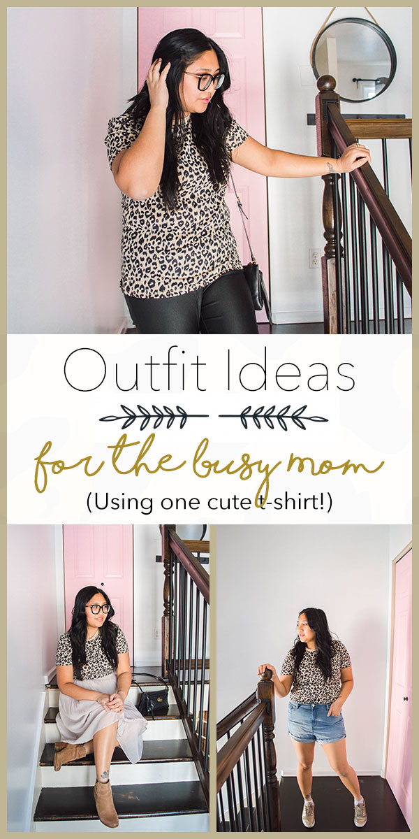 4 leopard print outfit ideas for the busy mama. Stay comfy, casual with our style ideas. #outfitsformoms