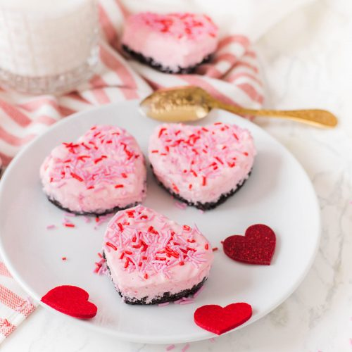 Heart-Shaped Mini Cheesecakes