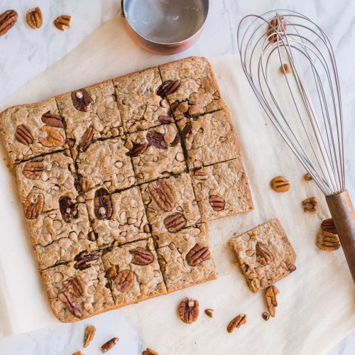 Caramel Pecan Blondies