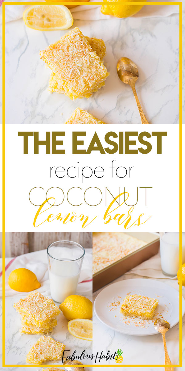 Lemon bars are a simple two-step process and I have for you, the easiest recipe for Coconut Lemon Bars! #coconutlemonbars
