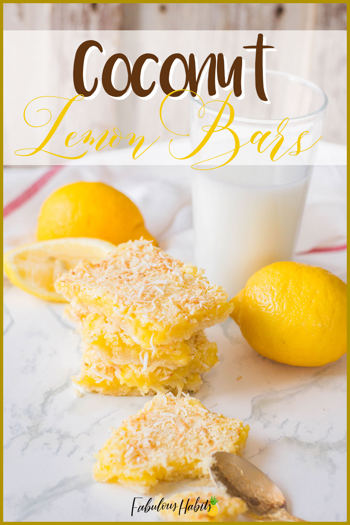 It's like a tropical vacation in your mouth - Coconut Lemon Bars! #lemonbars