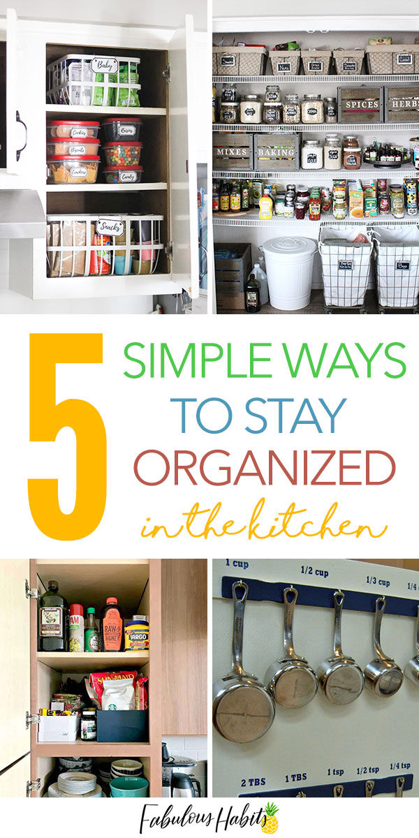 Here are 5 simple tips for easy kitchen organization. #cleankitchen