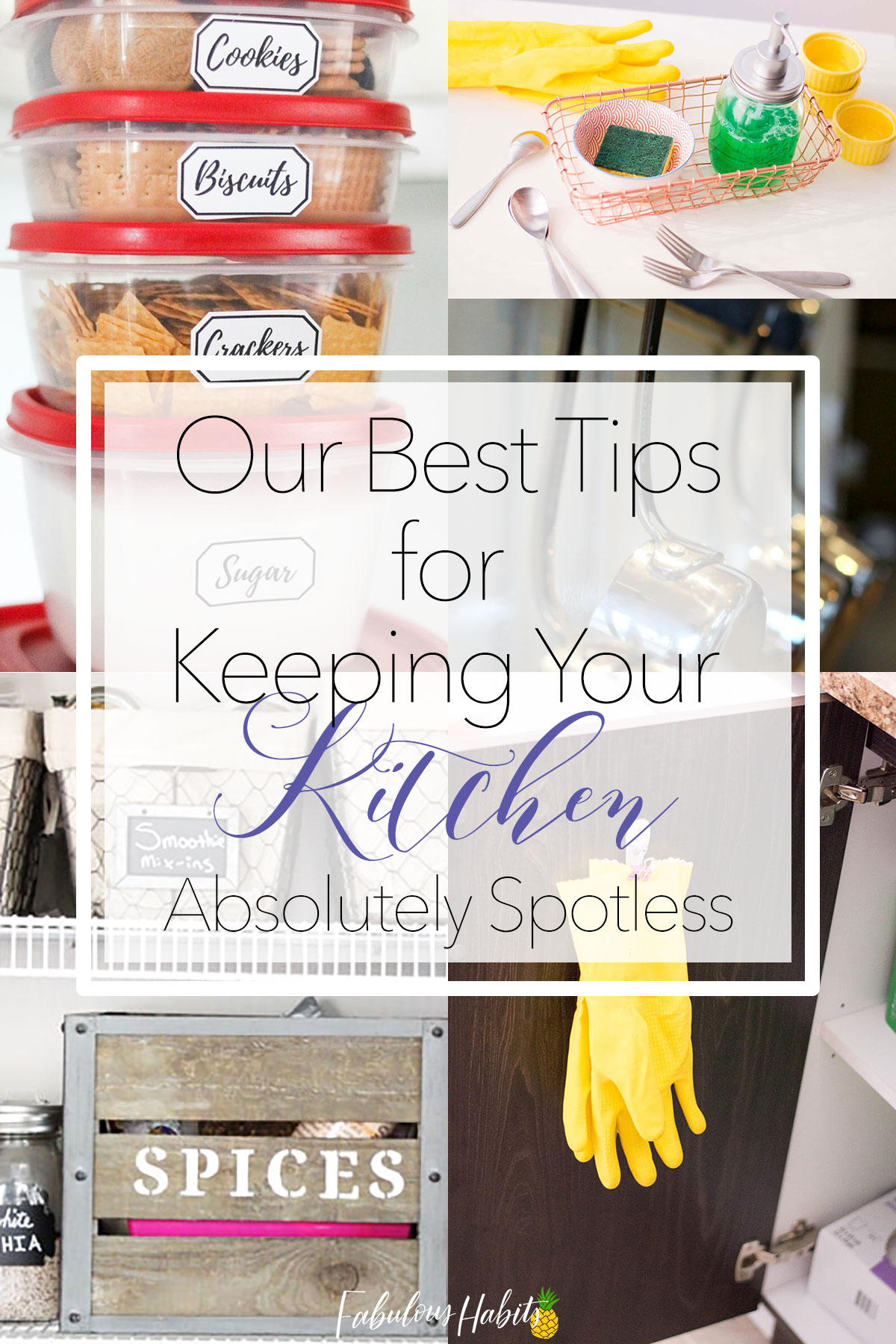 Our best tips for keeping your kitchen absolutely spotless! Here are our best kitchen organization tips. #kitchenorganization