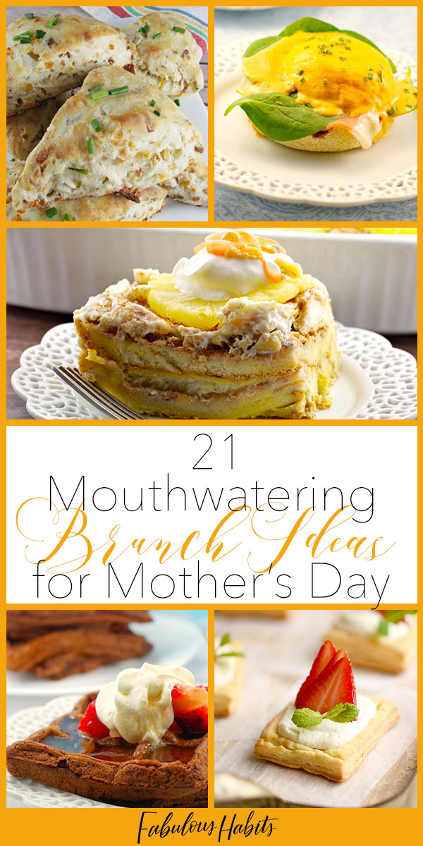 Celebrate mama with these amazing brunch ideas - worthy of any fancy brunch menu... but from the comfort of your own home! #mothersday