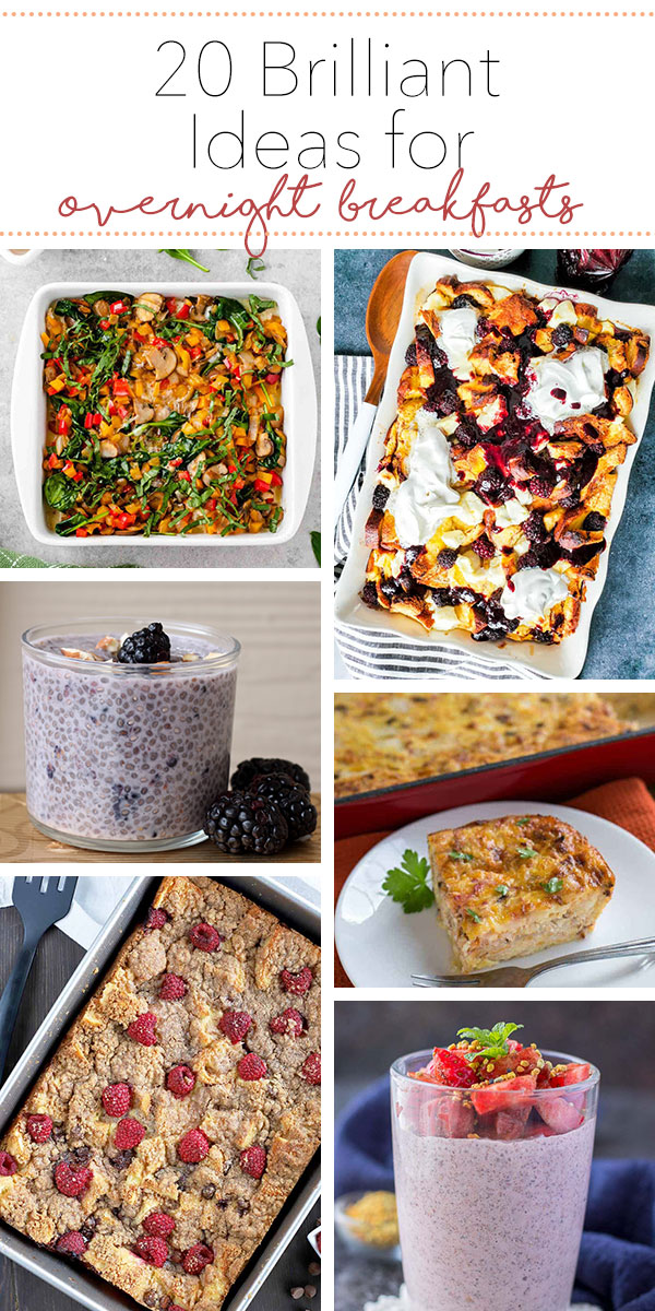 Mornings got you feeling all tired and groggy? Don't worry! Prepare these make-ahead breakfasts the night before and you'll have a delicious meal for your family first thing in the morning. #overnightbreakfastrecipes
