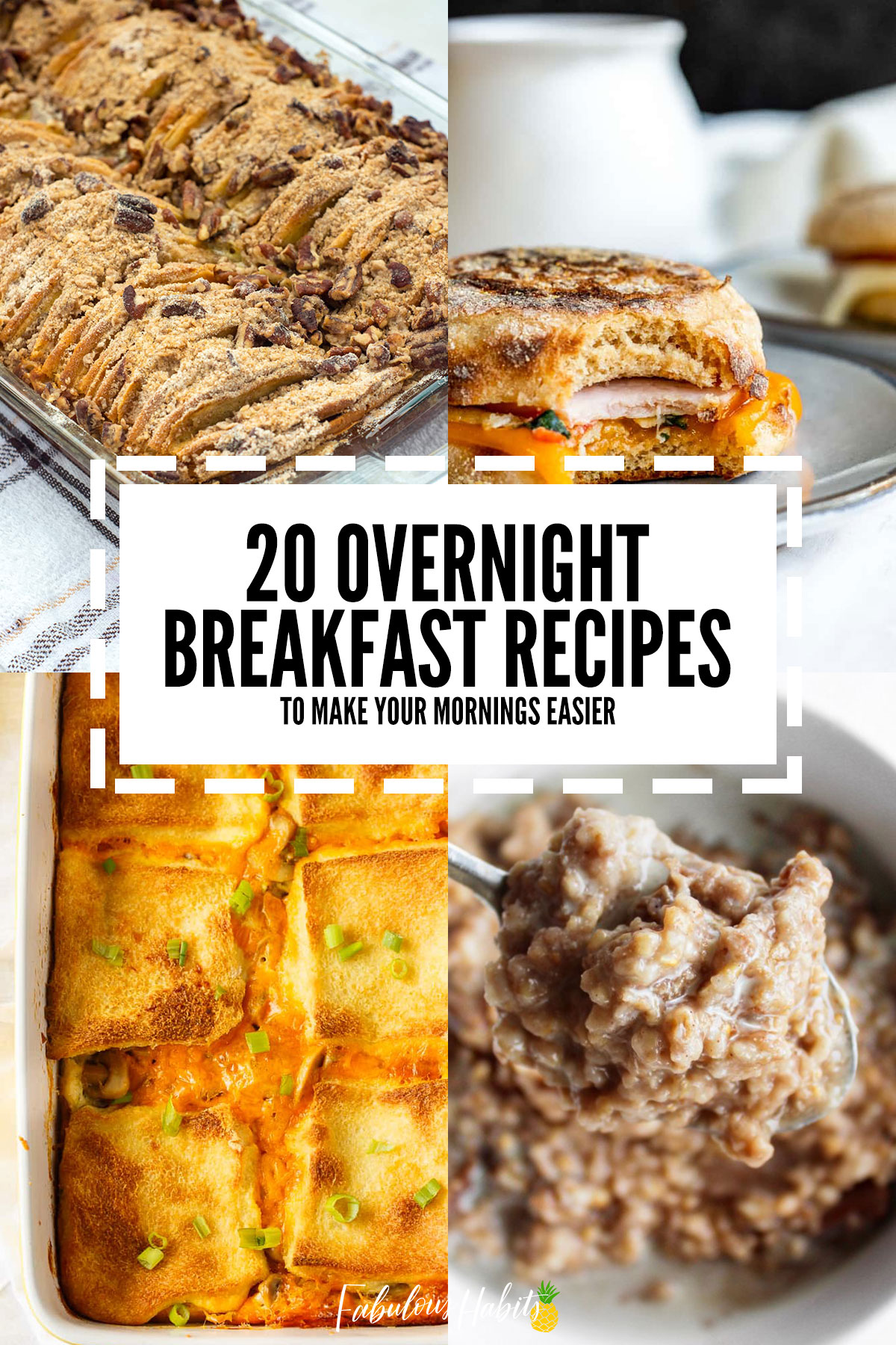 These 20 overnight breakfast recipes will give you a bit of a break in the morning - because we're not all morning people! #breakfastsolutions