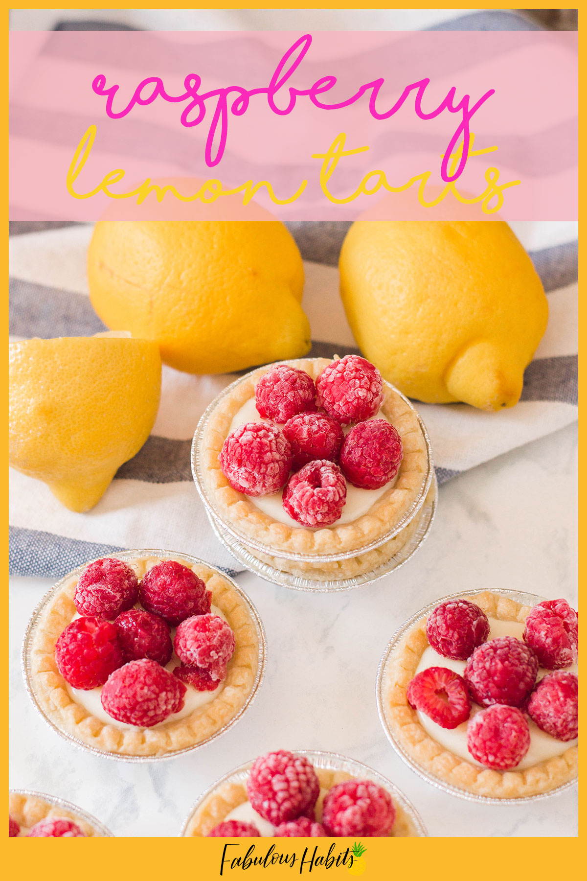 How stinking cute are these raspberry lemon tarts? You can make them yourself with my easy to follow recipe and directions! Mini pies for the win! #miniaturepies