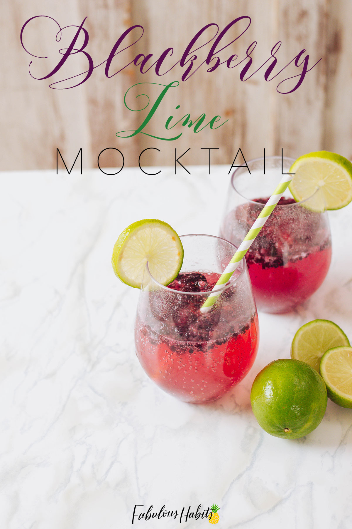 An easy mocktail to serve your guests - all it takes is some blackberries, lime and sparkling water. Yes, this Blackberry Lime Mocktail will totally impress your guests! #mocktailrecipe