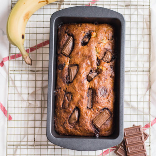 Hershey Bar Banana Bread