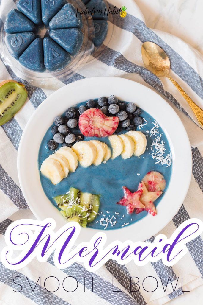 This Mermaid Smoothie Bowl has all the mermaid magic you need - and the deliciousness! Using an Evive Smoothie blend, this smoothie bowl came to life with the help of delicious, vibrant fruit like blueberries and kiwi. #smoothiebowl #breakfastgoals