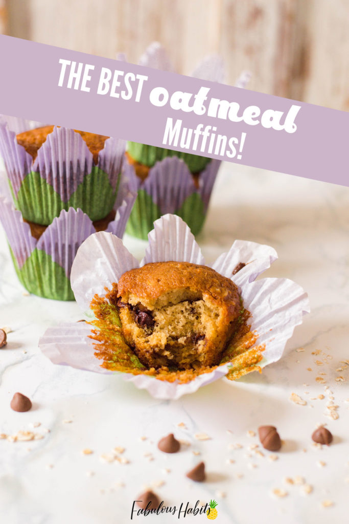 CHOCOLATE CHIP OATMEAL MUFFINS - Oatmeal and chocolate come together to form this amazing muffin. It's a classic recipe that belongs in every household!