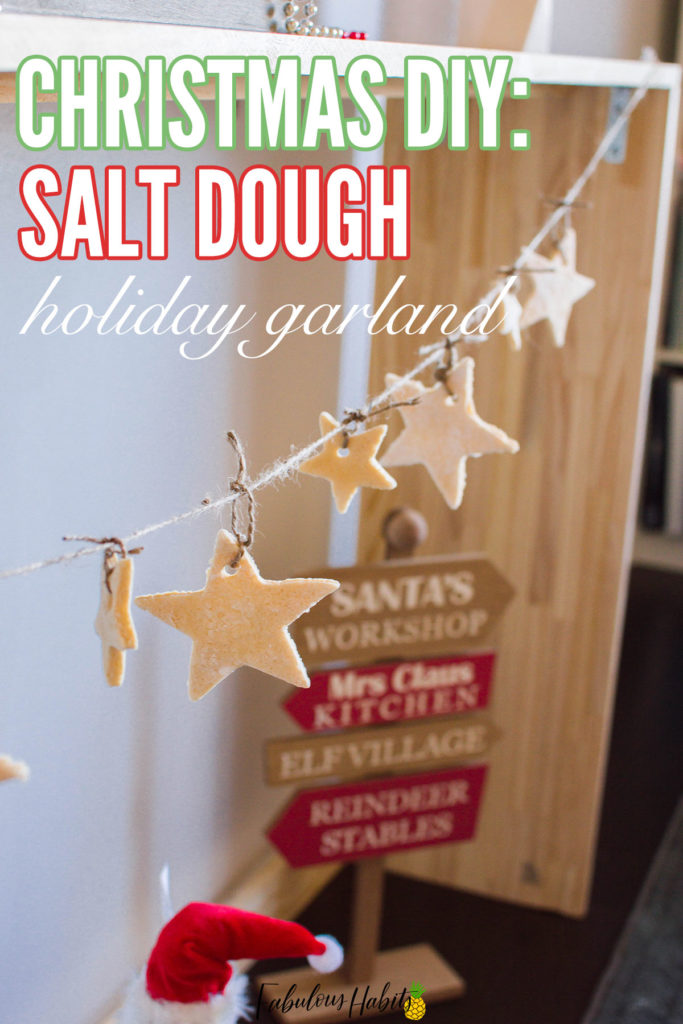 Christmas DIY: This Christmas garland comprises of a line of salt dough stars. It's elegant and minimal - the perfect touch to any holiday décor! Check out our step-by-step instructions and our surefire salt dough recipe.